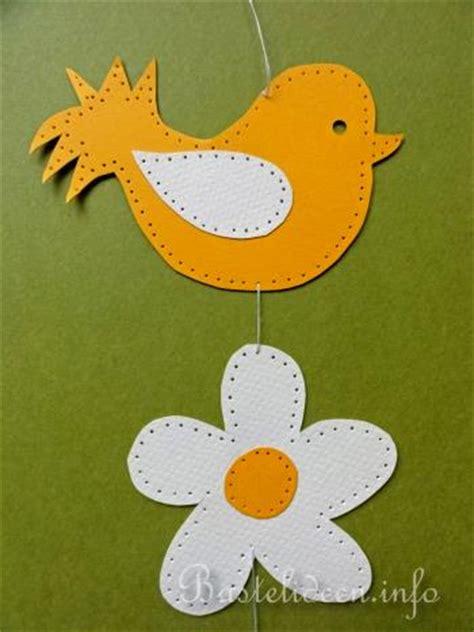 vogel basteln aus papier basteln mit kindern sommer fensterbild vogel und blume