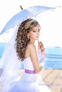 Long Wedding Hairstyles with Veils and Tiaras - Knot For Life
