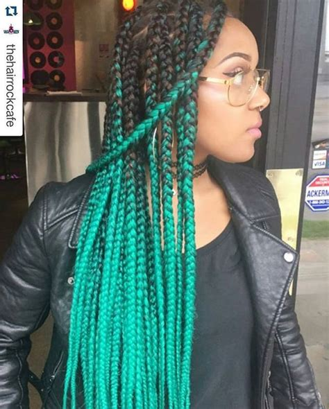 colorful braiding hair box braids with color 30 colored box braids styles