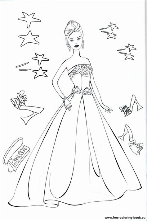 coloring pages barbie page  printable coloring pages