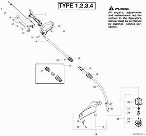 Poulan    Weed Eater Motorsensen  Trimmer Fl20c  Type 1