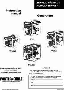 Porter Cable Bs600 W 1 User Manual Generator Manuals And