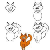 dessin renard facile comment dessiner un renard etape par etape