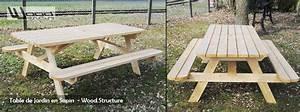 Table Exterieur En Bois : mobilier exterieur bois wood structure ~ Teatrodelosmanantiales.com Idées de Décoration