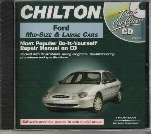 chilton car manuals free download 2002 ford crown victoria electronic toll collection 1983 1999 ford mid full size cars chilton repair manual on cd rom