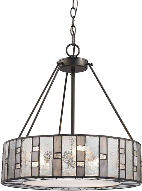 l shades that attach to light elk ethan modern tiffany bronze drum hanging pendant