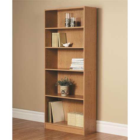 brown bookshelf  shelf storage wood shelving organizer