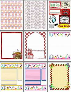 printable scrapbook pages for recipe scrapbooks smash With templates for scrapbooking to print
