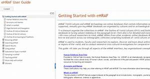 Updated  U0026 Redesigned User Guide In Ehraf Databases