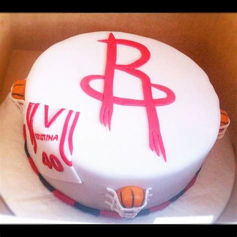 Edible Houston Rockets Birthday Cake