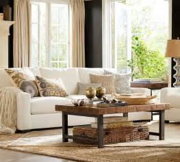 traditional living room with carpet by pottery barn