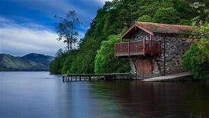 House Boat Lake Wallpaper HD Desktop (House Boat Lake ...