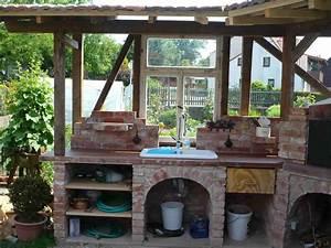 Küchen Selber Bauen : au enk che garten k che outdoor k che selber bauen und ~ Watch28wear.com Haus und Dekorationen