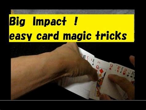 easy card tricks for impact easy card magic tricks tutorial 마술 13の不思議 解説 youtube