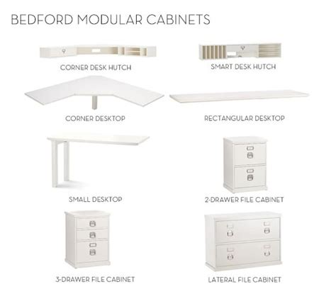 pottery barn bedford corner desk dimensions build your own bedford modular cabinets pottery barn
