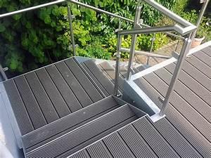 Wpc Wandverkleidung Außen : gel nder u treppen l p metall gbr metallbau osnabr ck metallverarbeitung wpc treppe ~ Frokenaadalensverden.com Haus und Dekorationen