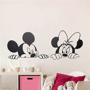 cartoon mickey minnie mouse cute animal vinyl wall With cute mickey and minnie wall decals