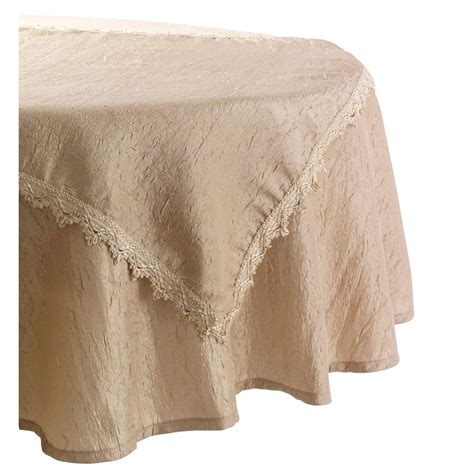70 inch tablecloth essential home gold 2 piece 70in round tablecloth set home dining entertaining table