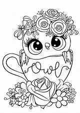 Owl Coloring Tulamama sketch template