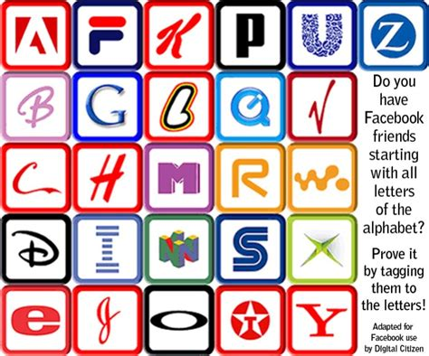 Friends' Name Alphabet Facebook Picture Tagging Game