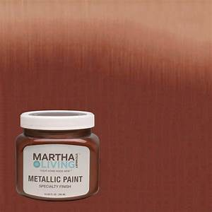 martha stewart living 10 oz copper red metallic paint 4 With home depot metallic furniture paint