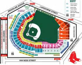 Fenway park seating map - Fenway seat map (United States ...