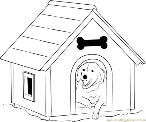 dog house  window coloring page  dog house coloring pages coloringpagescom