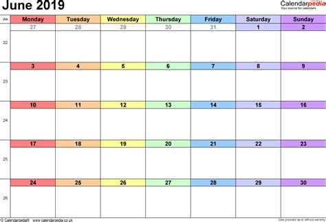 calendar june uk bank holidays excelpdfword templates
