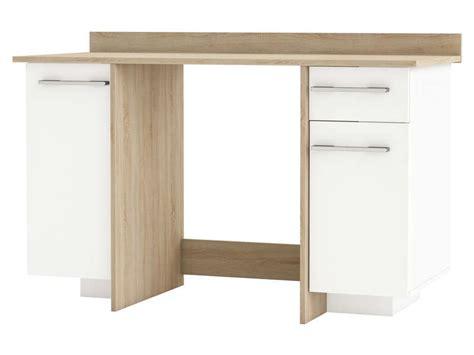 bureau thales bureau 2 portes 1 tiroir thales 2 coloris chêne brossé