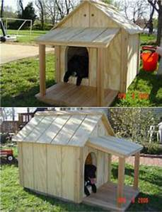 15 brilliant diy dog houses with free plans for your furry for Diy outdoor dog house