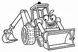 Shovel Coloring Mechanical Cartoon Printable Excavator Pages Print sketch template