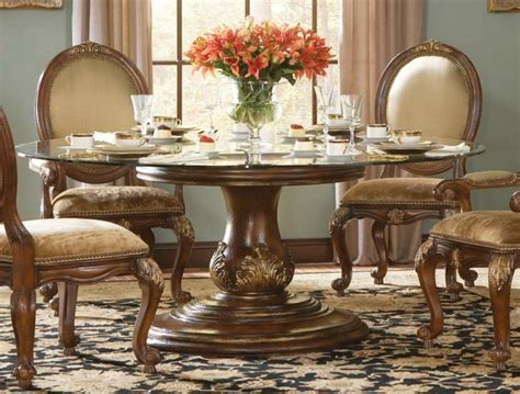 foxy round glass top dining table and chairs dining room