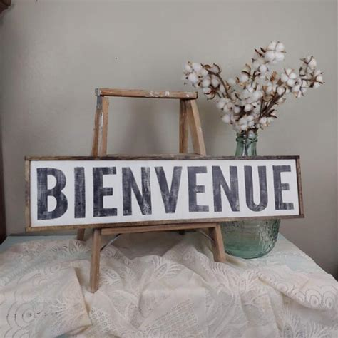 French Welcome Sign, Bienvenue Sign, Rustic French Decor ...