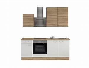 Küche 210 Cm Mit Geräten : k chenzeile rom k che mit e ger ten 11 teilig breite 210 cm wei k che k chenzeilen ~ Indierocktalk.com Haus und Dekorationen