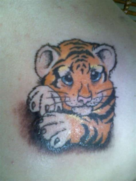 cute baby tiger tattoos ideas