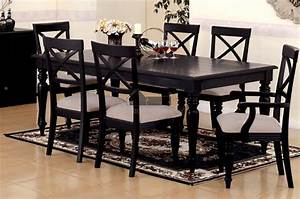 Country dining table set, black country table set country