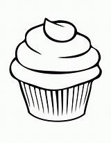 Cupcake Coloring Pages Printable sketch template