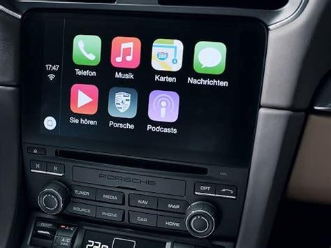 porsche communication management pcm apple carplay