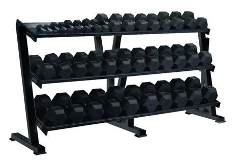 hex professional tray dumbbell rack gym equipment storage york