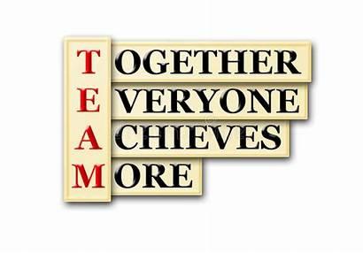 Team Acronym Words Teamwork Concept Together Training