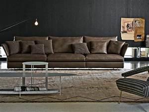 Canapé D Angle Cuir Marron : photos canap d 39 angle cuir marron clair ~ Teatrodelosmanantiales.com Idées de Décoration