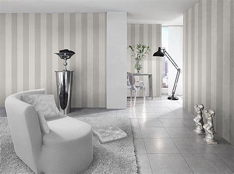 wallpaper johns silver white striped wallpaper