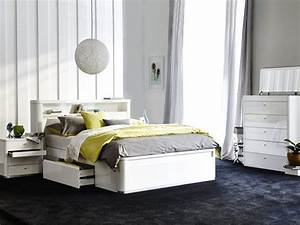 tivoli queen storage bed frame stylish curved design with With bedhead with storage