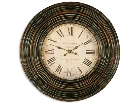 Uttermost Trudy 38 Inch Wooden Wall Clock