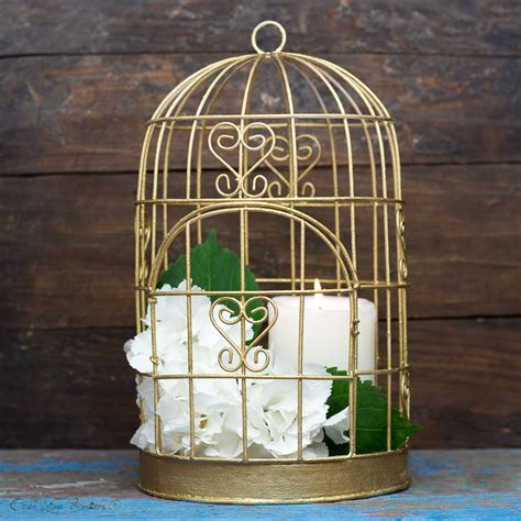 shabby chic birdcages shabby chic decor antique gold bird cage gold candle