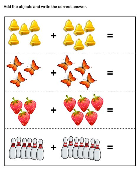 Math Skills Worksheets  Free Printable Kindergarten Math Worksheets  Kindergarten Pinterest