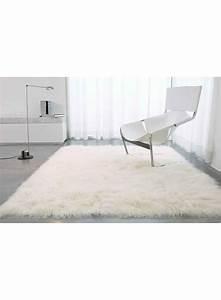 Tapis Blanc Poil Long : tapis ~ Teatrodelosmanantiales.com Idées de Décoration