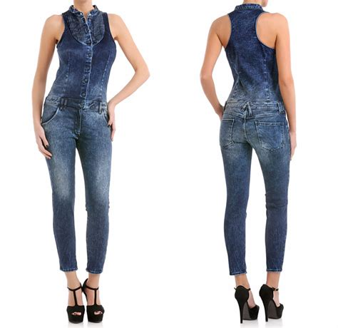 one denim jumpsuit cycle italy sleeveless denim salopette one jumpsuit