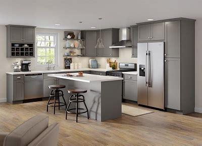 cambridge base cabinets  gray kitchen  home depot