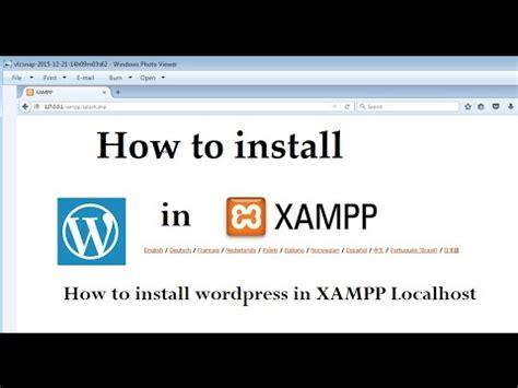 install wordpress  xampp localhost youtube